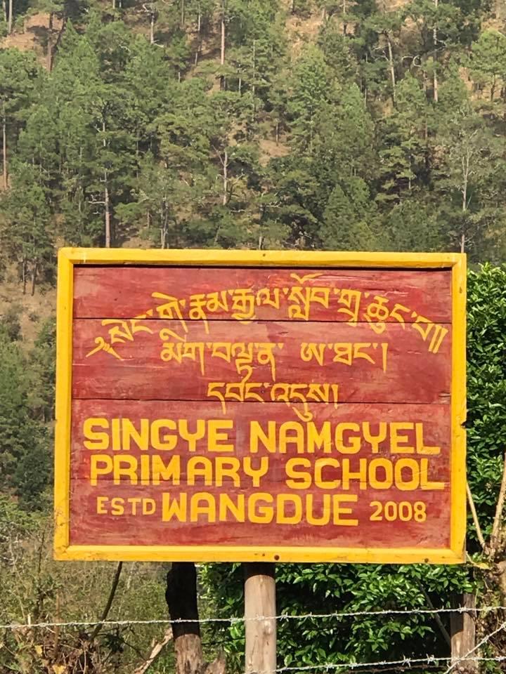 Singye Namgyel Primary School, 134 Children & Tao Calligraphy 3