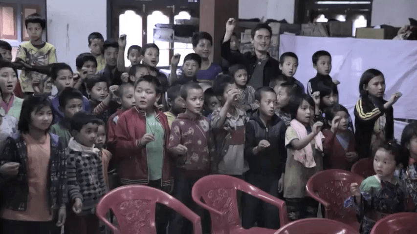 Singye Namgyel Primary School, 134 Children & Tao Calligraphy 5