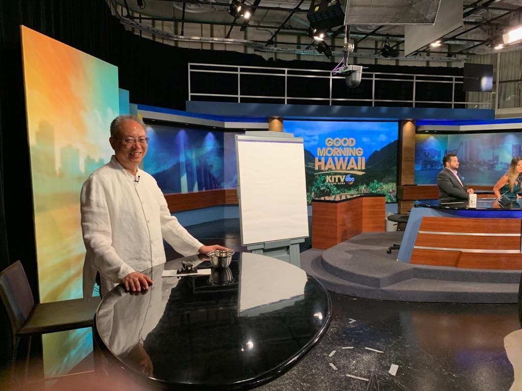 Master Sha Writes Tao Calligraphy on KITV4 Morning News in Hawaii  March 14 2019 1