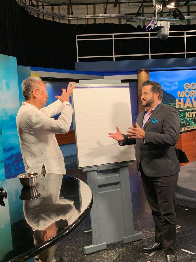 Master Sha Writes Tao Calligraphy on KITV4 Morning News in Hawaii  March 14 2019 2