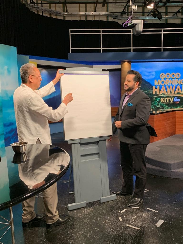 Master Sha Writes Tao Calligraphy on KITV4 Morning News in Hawaii  March 14 2019 3