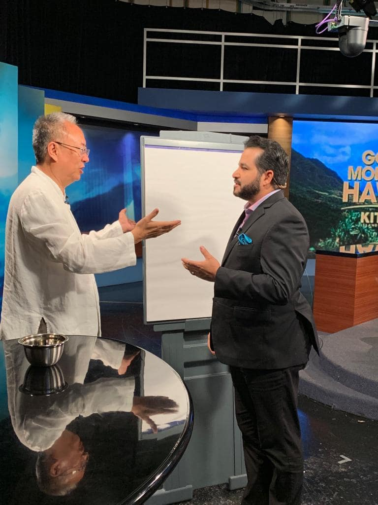 Master Sha Writes Tao Calligraphy on KITV4 Morning News in Hawaii  March 14 2019 4