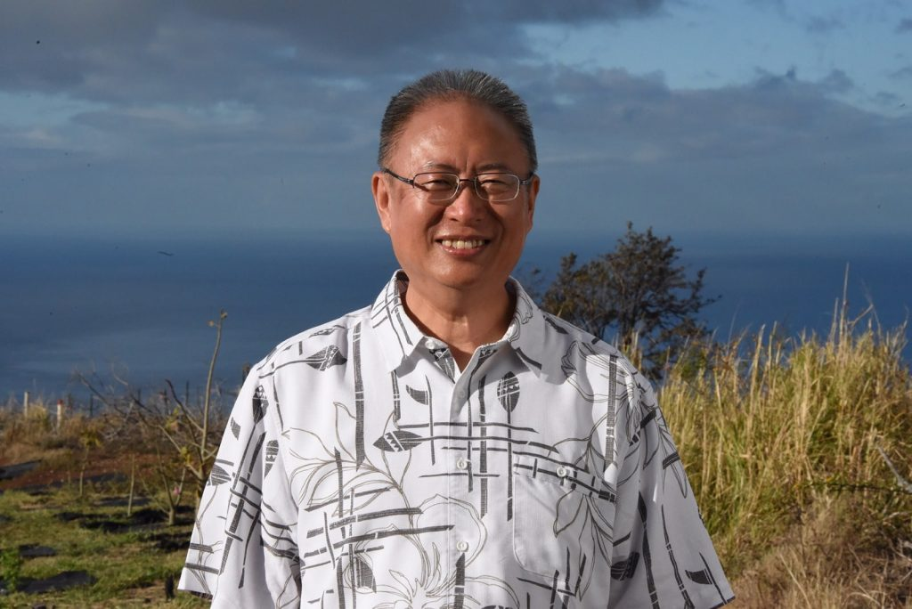 Master Zhi Gang Sha plants trees in Hawai'i March 12 2019 1