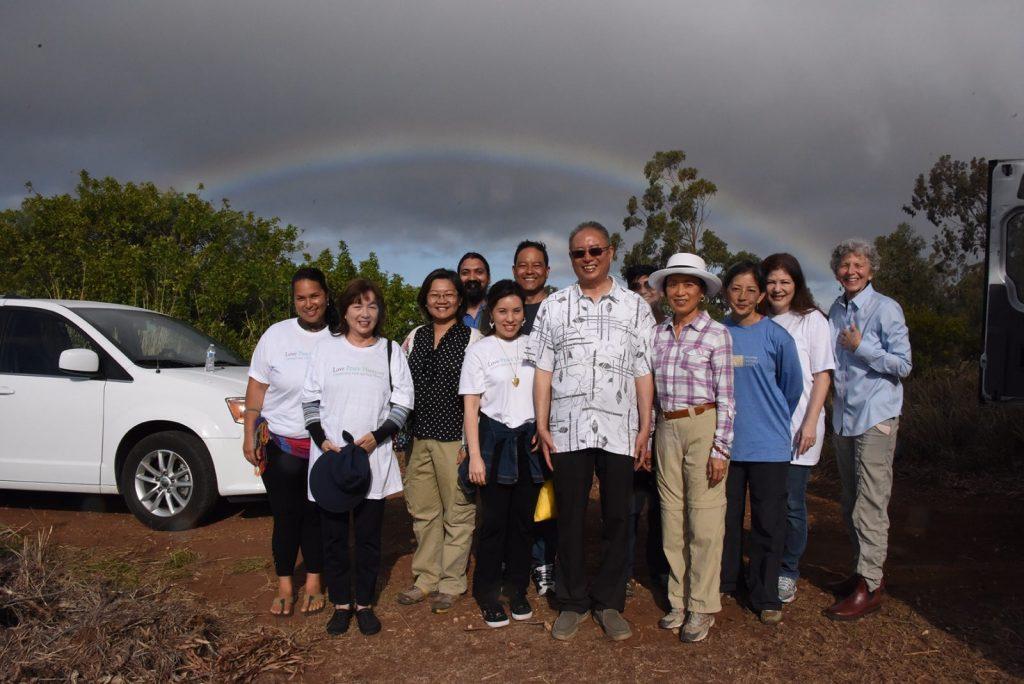 Master Zhi Gang Sha plants trees in Hawai'i March 12 2019 3